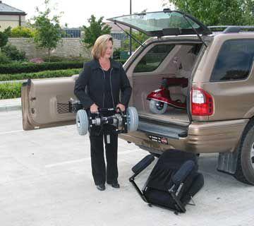 Espree Atlas loading into a car