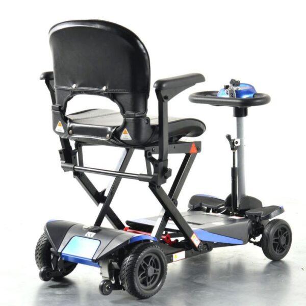 Smarti folding scooter blue back