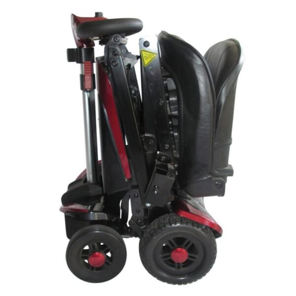 Smarti folding scooter red folded side