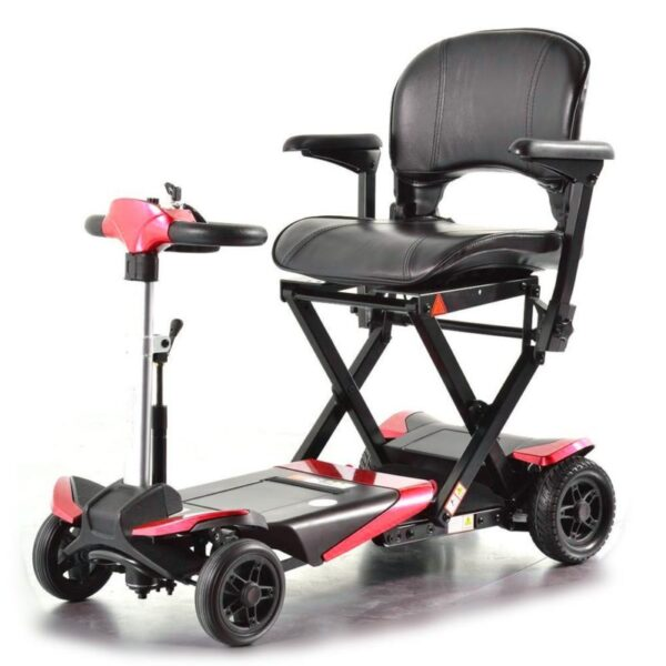 Smarti folding scooter red front