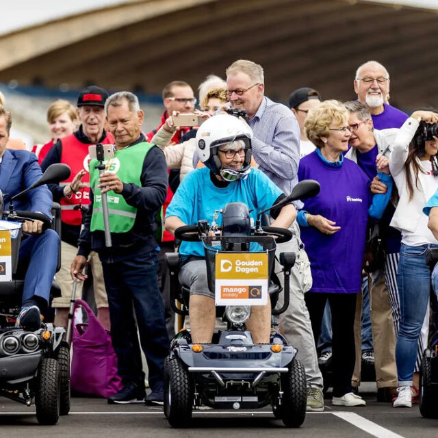 Mobility scooter race competition in the Netherlands